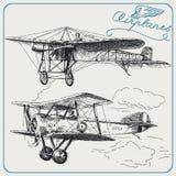 Aeroplanos de la vendimia Fotografía de archivo libre de regalías