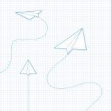 Aeroplanos de papel Fotos de archivo libres de regalías