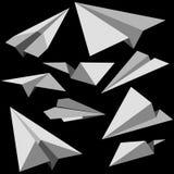 Aeroplanos de papel Imágenes de archivo libres de regalías