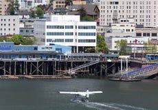 Aeroplanos del agua de Juneau Imágenes de archivo libres de regalías