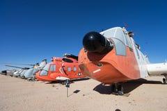 Aeroplanos del vintage exhibidos en el aire y el museo espacial de PIMA Fotografía de archivo libre de regalías