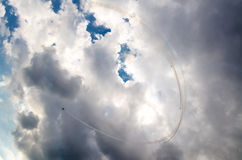 Aeroplanos en airshow Imágenes de archivo libres de regalías
