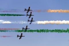 Aeroplanos en el cielo foto de archivo libre de regalías