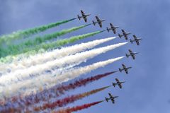 Aeroplanos en el cielo Foto de archivo