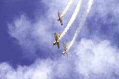 Aeroplanos en el cielo Imagenes de archivo