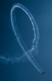 Aeroplanos en el salón aeronáutico Foto de archivo