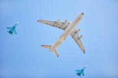 Aeroplanos rusos de la fuerza aérea Foto de archivo