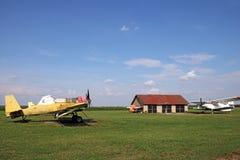 Aeroplanos viejos del plumero de la cosecha Fotografía de archivo libre de regalías