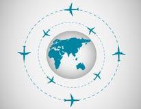 Aeroplanos y globo Fotos de archivo libres de regalías