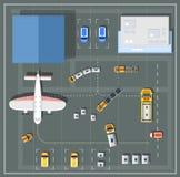 Aeroporto aéreo do ponto de vista ilustração stock