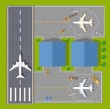 Aeroporto aéreo do ponto de vista ilustração royalty free