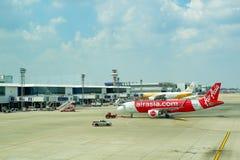 Aeroporto Banguecoque Ásia Airbus e ar da NOK Fotografia de Stock