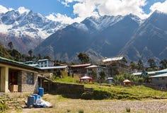 Aeroporto da vila de Lukla, Nepal Fotos de Stock