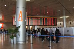 Aeroporto de Ben Gurion. Telavive Foto de Stock Royalty Free