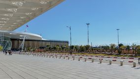 Aeroporto de C4marraquexe - vista fora imagens de stock