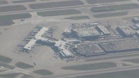 Aeroporto de Dallas de cima de video estoque