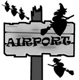 Aeroporto de Dia das Bruxas Foto de Stock