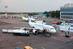 Aeroporto de Domodedovo em Moscovo, Rússia Fotografia de Stock Royalty Free