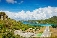 Aeroporto de Gustaf III - St Barths Imagem de Stock Royalty Free
