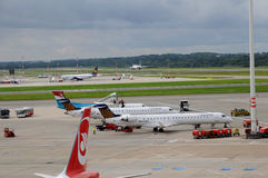 Aeroporto de Hamburg International em Alemanha Imagem de Stock Royalty Free