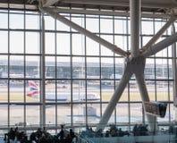Aeroporto de Heathrow em Londres, terminal 5 Fotografia de Stock