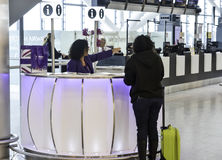 Aeroporto de Heathrow - terminal 5 Foto de Stock Royalty Free