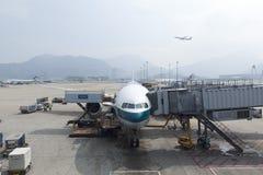 Aeroporto de Hong Kong em Hong Kong. Fotografia de Stock Royalty Free