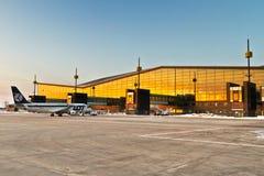 Aeroporto de Lech Walesa em Gdansk Foto de Stock Royalty Free