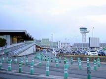 Aeroporto de Merignac do Bordéus, Aquitaine, França imagem de stock