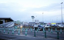 Aeroporto de Merignac do Bordéus, Aquitaine, França fotografia de stock