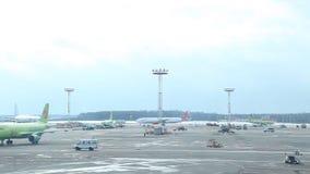 Aeroporto 03 de Rússia, Moscou Aeroflot 03 17 vídeos de arquivo