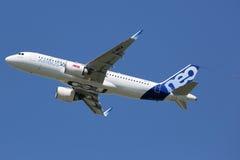 Aeroporto de Toulouse do avião de Airbus A320neo Imagem de Stock Royalty Free