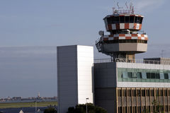 Aeroporto de Veneza com skyline Fotos de Stock Royalty Free