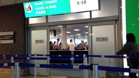 Aeroporto del insdie YVR del portone del controllo di sicurezza Fotografia Stock Libera da Diritti