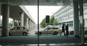Aeroporto del taxi video d archivio