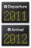 Aeroporto del terminale di nuovo anno 2012 Immagini Stock