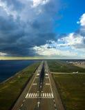 Aeroporto della pista Fotografia Stock Libera da Diritti