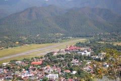 Aeroporto della pista di Chiang Mai Fotografia Stock