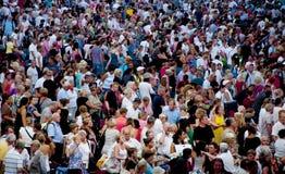 Aeroporto della Turchia, Antalya, folla della gente Immagini Stock