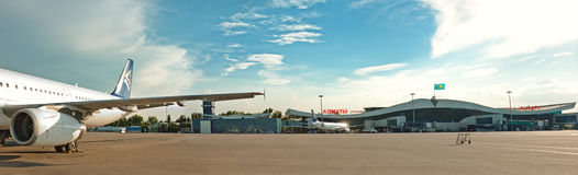 Aeroporto di Almaty di panorama Fotografia Stock Libera da Diritti