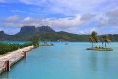 Aeroporto di Bora Bora Fotografie Stock