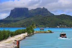 Aeroporto di Bora Bora Fotografia Stock