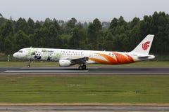 Aeroporto di Chengdu dell'aeroplano di Air China Airbus A321 immagine stock