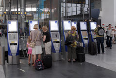 aeroporto di copenahgen Fotografia Stock
