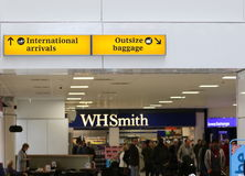 Aeroporto di Glasgow del corridoio di arrivi Immagine Stock Libera da Diritti