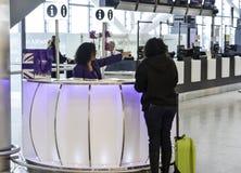 Aeroporto di Heathrow - terminale 5 Fotografia Stock Libera da Diritti