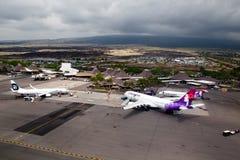 Aeroporto di Kona, grande isola, Hawai Fotografia Stock Libera da Diritti