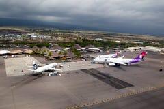 Aeroporto di Kona, grande isola, Hawai Immagini Stock Libere da Diritti