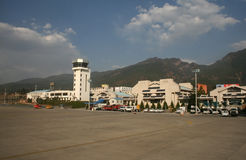 Aeroporto di Lijiang, provincia di Yunnan, Cina Immagini Stock Libere da Diritti