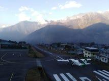 Aeroporto di lukla del Nepal immagine stock libera da diritti